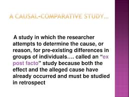 Causal Comparative Study Ppt Educational Research Causal Comparative Studies Powerpoint