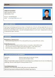 Resume Format For Tally Erp 9 Resume Templates