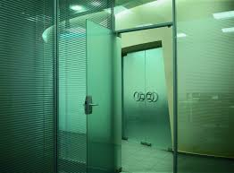 glass single swing interior doors for office