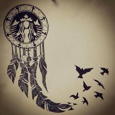 Dream Catcher With Birds Simple Tara Brooke 🕷 On Twitter Ultimate Whitegirl Tattoo Starbucks