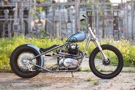 blue is the color an ice cool yamaha xs650 bobber weld burn masks