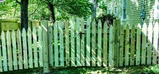 picket fence double gate. Double Gate And Round Pressure Fencing Sided Pt Picket Fence E