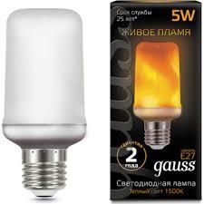 Светодиодная <b>лампа GAUSS 157402105 Corn</b> Flame - купить ...