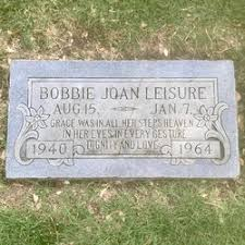 Bobbie Joan Hitchcock Leisure (1940-1964) - Find A Grave Memorial