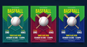 Free Baseball Flyer Template Baseball Flyer Template Vector Vector Premium Download