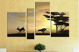 perfect decorative flowers large canvas art kangaroos living in australia abstract paintings for living room ops00263 in painting calligraphy from