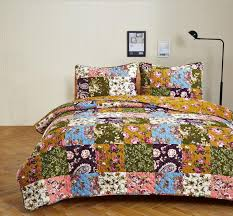 Country Quilts, Primitive Quilts, Patchwork Quilts, VHC Brands ... & Antique Bloom Quilted Bedding Set - 3 pc. Queen/Full Adamdwight.com