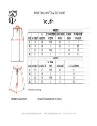 Macleem Youth Size Chart By Macleem Sports Wear Issuu