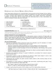 Resume Template For Sales Position