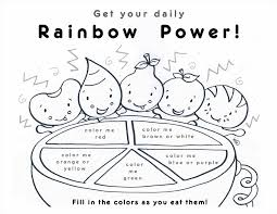 Small Picture Coloring Pages Kids Rainbow Coloring Page Free Printable