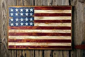 how to paint an american flag on wood painted flag wall art painted flag pottery barn how to paint an american flag on wood