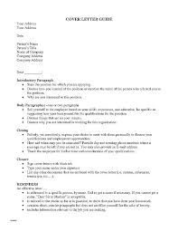 Cover Letter To Unknown Person B Start Info