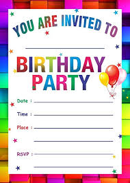 kids birthday party invitations askprints birthday metallic card invitations with envelopes kids birthday party invitations for boys or girls 25 count rainbow colorful theme
