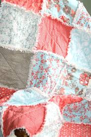 Coral Colored Coverlet Coral Blue Shells Beach Quilt Set Blue ... & Blue Coral Quilts Crib Rag Quilt Baby Girl Crib Bedding Coral Aqua By  Justluved Coral Colored ... Adamdwight.com