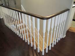 white wood stair railings