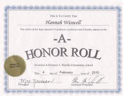 High School Honor Roll Certificate Template Mangdienthoai Com