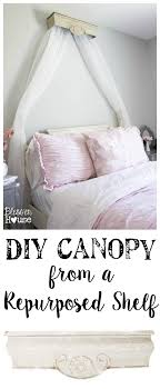 DIY Canopy Crown from a Repurposed Shelf