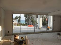 image of interior folding glass doors