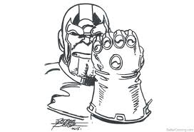Thanos Coloring Pages Infinity War Popular Of Avengers Infinity War