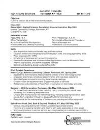 Administrative Assistant Resume Skills Examples Best Objective For