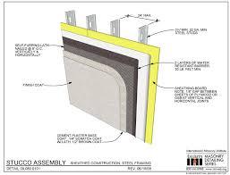metal framing header detail. Beautiful Framing 090800101 Stucco Assembly  Sheathed Construction Steel Framing Intended Metal Header Detail
