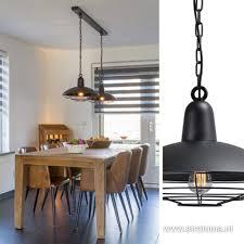 Industriele Hanglamp 2 Lichts Eettafel Straluma