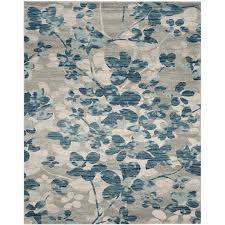 safavieh evoke maxwell gray light blue indoor oriental area rug common 8 x