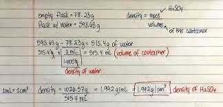 Density Chart Of Materials In G Cm3 Density Chemistry Video Clutch Prep