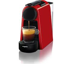 nespresso by magimix essenza mini coffee machine ruby red