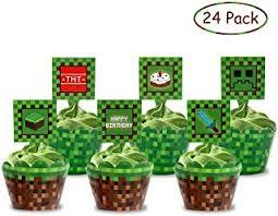 Amazoncom Minecraft Cake Toppers