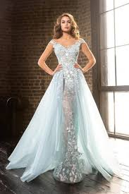 Light Blue Prom Dresses 2018 Special Price Robe De Soiree Mother Dresses 2018 Luxury Light Blue Lace Appliques Vestidos Over Skirts Pageant Evening Prom Gown Formal Dress January