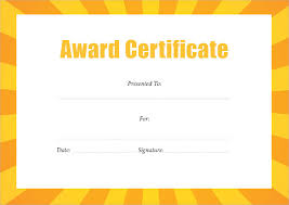 Free Certificate Templates For Word Award Certificate Template Pdf Free Award Certificate Templates Word