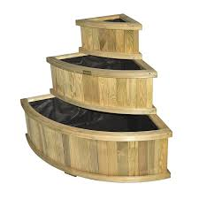 Amazon.com : Bosmere PLLY100 Rowlinson Marberry Rectangular Wooden Planter  with Liner, Natural Timber Finish : Garden & Outdoor