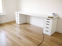 kitchen office desk. DIY Office Desk Made From IKEA Kitchen Components Hackers A