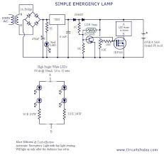 circuit diagram of simple emergency light images circuit diagram of simple emergency light