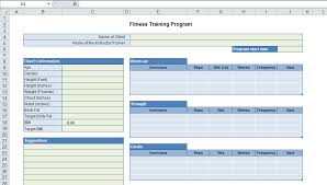 Personal Trainer Program Design Templates Pic 6 Learn It Blog