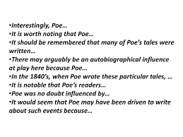 poe essay support poe taps into his audience s historically unique interests and fears 22