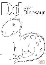 Letter D Is For Dinosaur Coloring Page And Coloring Pages