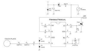 sensitive touch light dimer circuit schematic