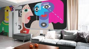Wall Mural For Living Room Living Room Wall Murals Eazywallz