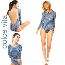 Dolce Vita Surf Suit Long Sleeve One Piece Swim Nwt