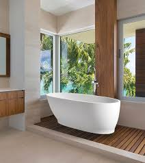 lydia large freestanding bath with built in pedestal and slotted overflow