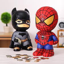 Catman Money Saving <b>Box Home Decoration</b> Spiderman Resin ...