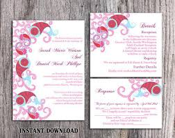 Invitation Template For Word Impressive DIY Bollywood Wedding Invitation Template Set Editable Word File