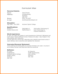 10 Cv With Work Experience Examples Buyer Resume