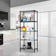 angry 5 tier layer shelf adjule wire metal shelving rack heavy duty garage