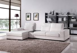 white fabric modern sectional sofa wmoving back  tea table