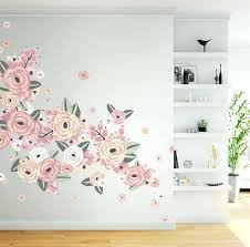 flower wall decals an assortment of soft pink and pastel flowers on a white wall with