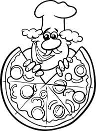 Pizza Restaurant Coloring Pages Restaurant Coloring Pages French