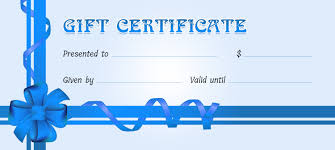 gift certificate for ms word